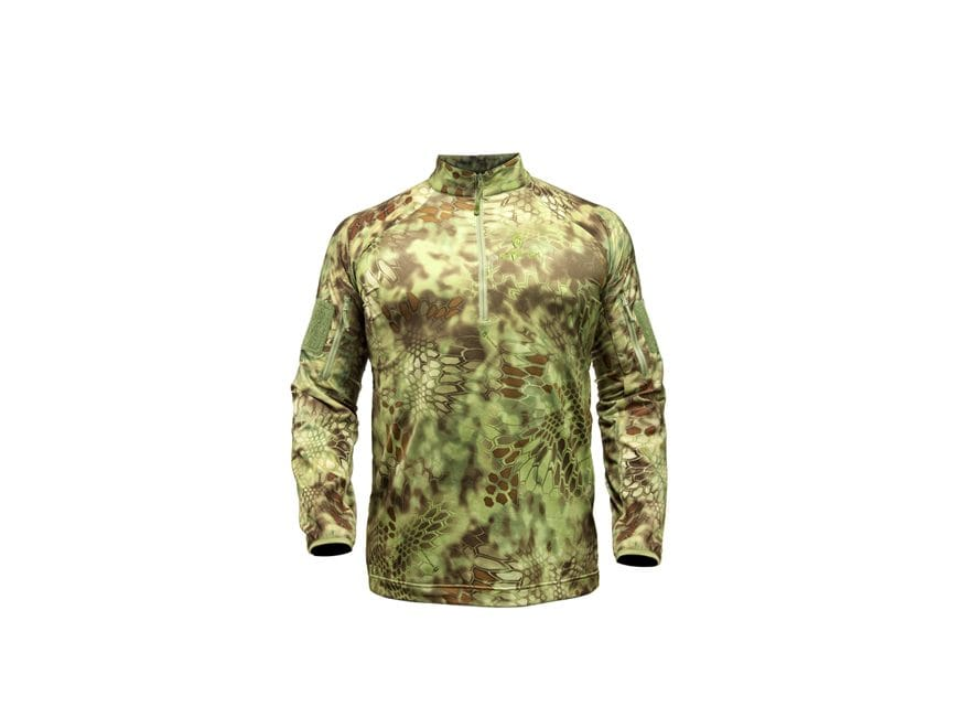 Kryptek Men's Valhalla 1/4 Zip Shirt Long Sleeve Polyester/Spandex