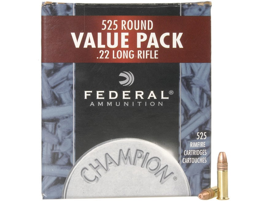 federal champion target ammo 22 long rifle 36 grain mpn 745 525