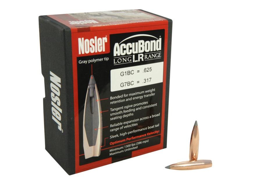 Nosler AccuBond Long Range Bullets 270 Caliber (277 Diameter) 150 Grain Bonded Spitzer ...
