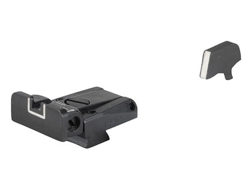 LPA SPR Sight Set 1911 Government with Wide Tenon Front Sight Steel White Outline