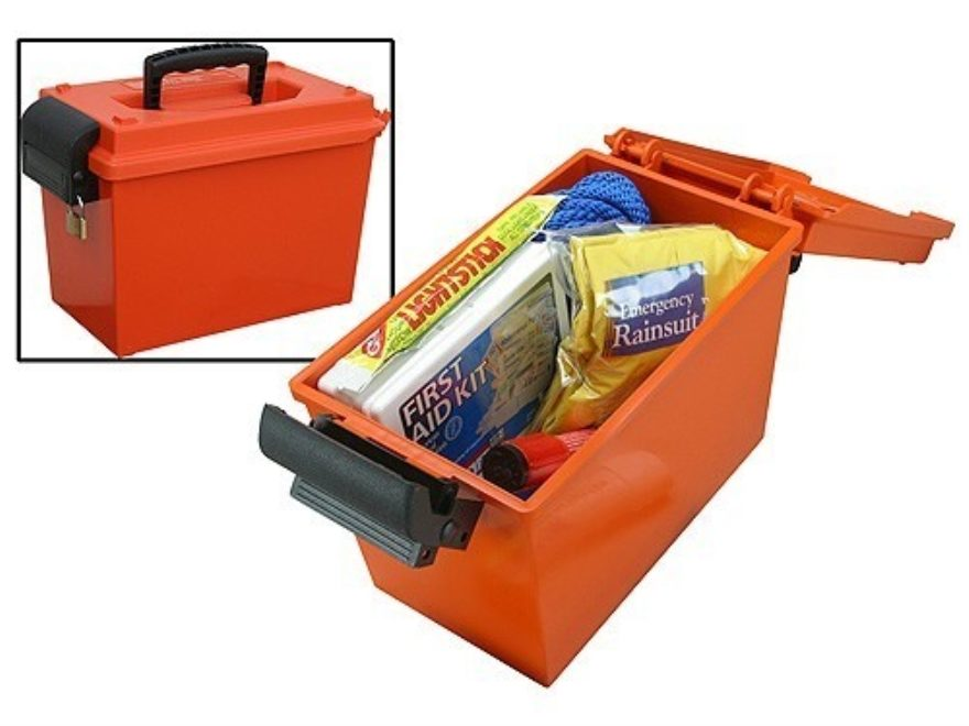 "MTM Sportsmans Dry Box 14"" x 7-1/2"" x 9"" Orange"