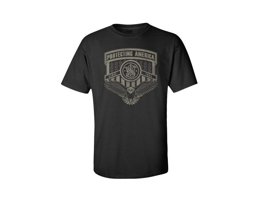 Smith & Wesson Men's Protecting America Short Sleeve T-Shirt Cotton