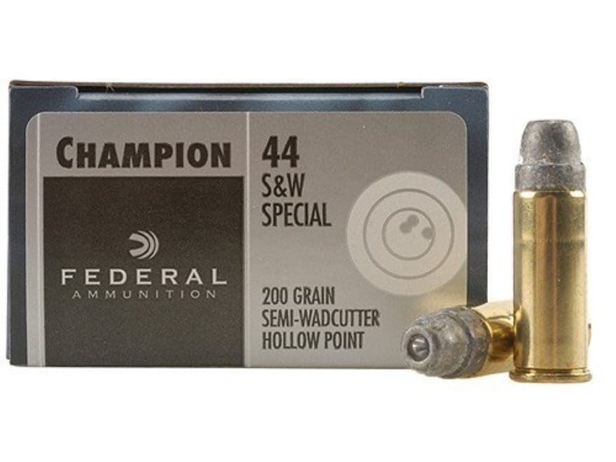 Federal Champion Target Ammunition 44 Special 200 Grain Lead Semi-Wadcutter Hollow Point