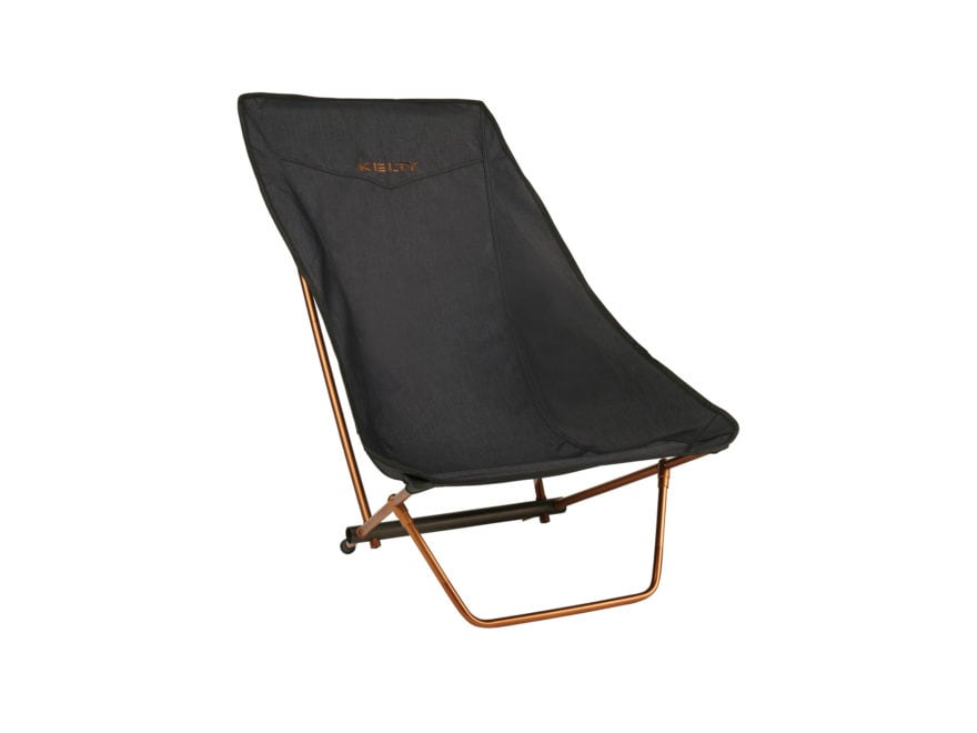 Kelty Linger Get-Down Camp Chair Polyester and Aluminum Heathered Black/Copper