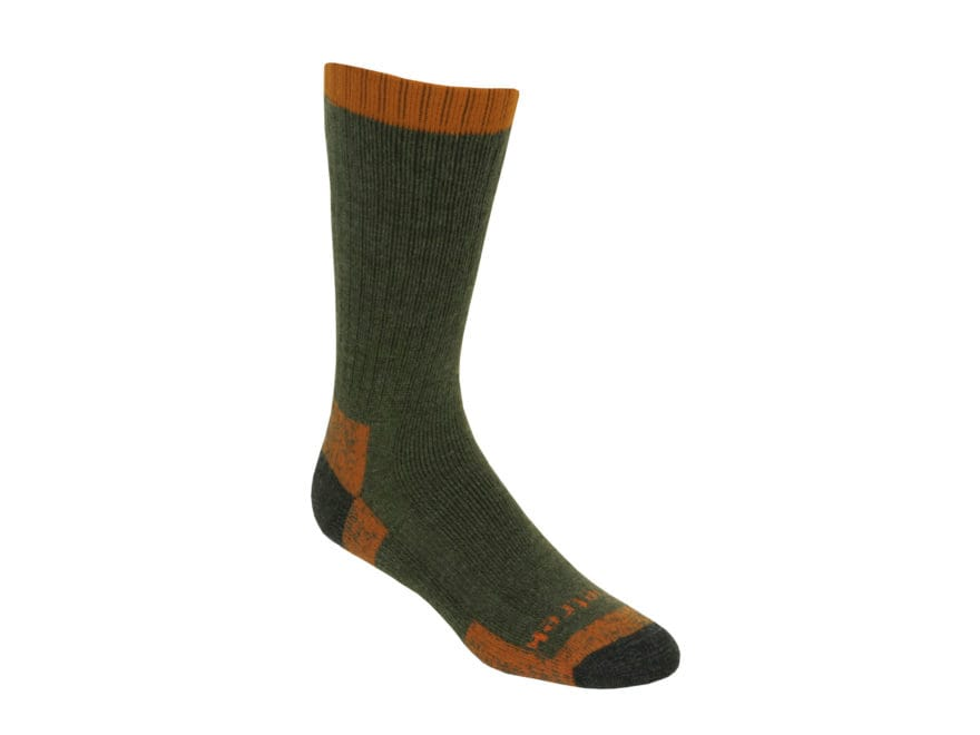 Kenetrek Men's Glacier Heavyweight Crew Socks Merino Wool Blend Green 1 Pair