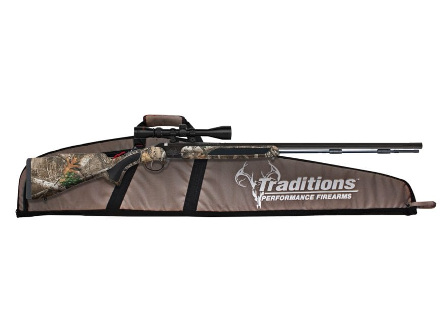 """Traditions StrikerFire LDR Muzzleloading Rifle 50 Caliber 30"""" Nitride Barrel with 3-9x4..."""