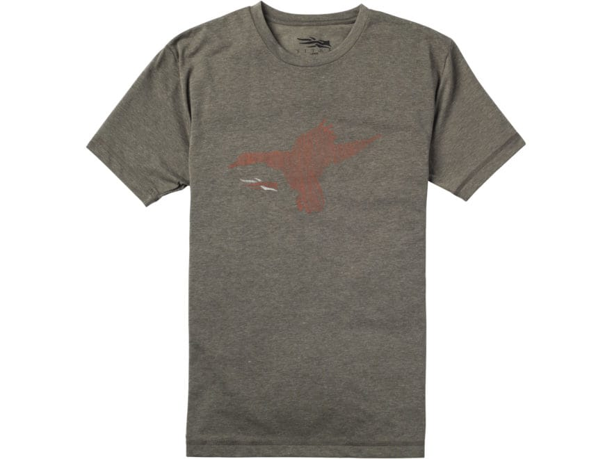 Sitka Gear Men's Duck Sketch T-Shirt Short Sleeve Polyester and Cotton Blend Pyrite