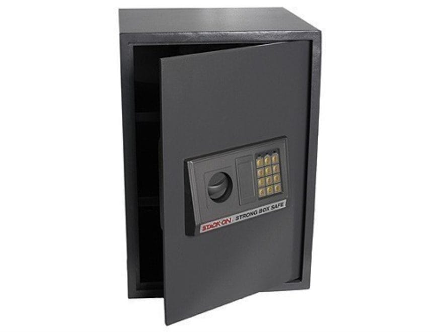 "Stack-On ""Strong Box Safe"" Personal Safe XL with Electronic Lock Black"
