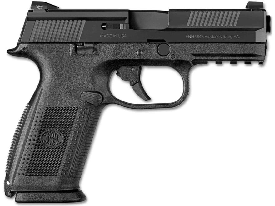 "FN FNS-9 Pistol 9mm Luger 4"" Barrel 17-Round Night Sights Polymer Black"