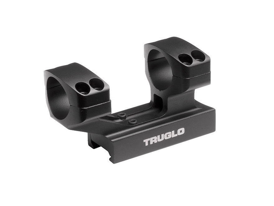 "TRUGLO Tactical 1-Piece Scope Mount Picatinny-Style with Integral 1"" High Rings Matte"