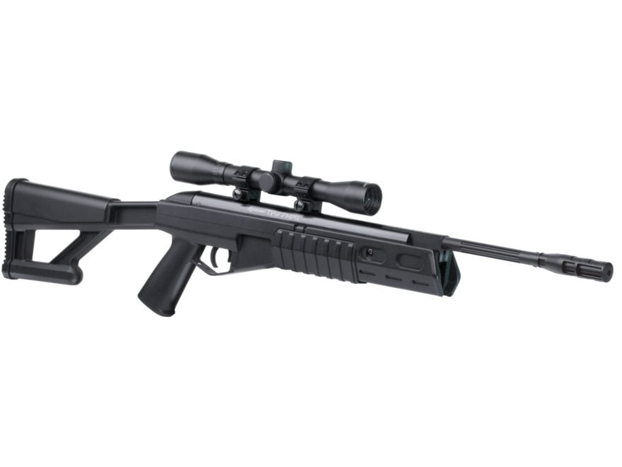 Crosman TR77 Nitro Piston Tactical Break Barrel Air Rifle 177 Caliber Pellet Black Synt...