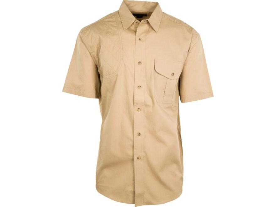 MidwayUSA Men's Lightweight Shooting Shirt Short Sleeve Khaki 2XL Tall