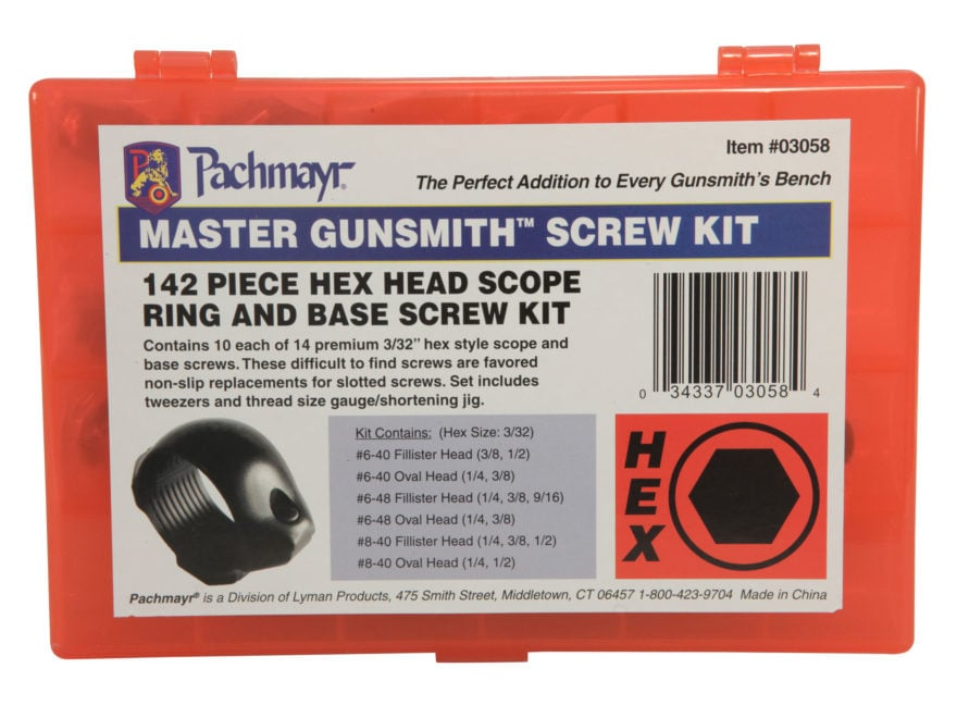 Pachmayr Master Gunsmith Hex Head Screw Kit Pack of 140