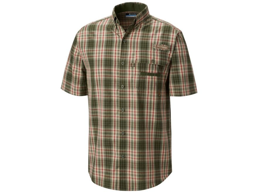Columbia Men's PHG Super Sharptail Button-Up Shirt Short Sleeve Cotton