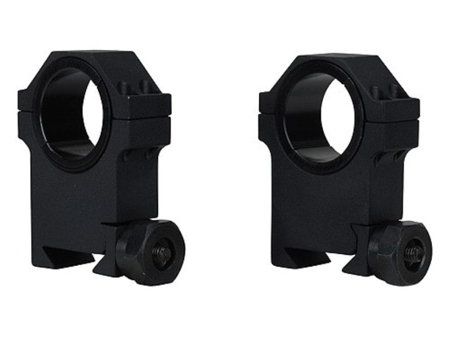 """Barska 30mm Heavy Duty Tactical Weaver-Style Rings with 1"""" Inserts Matte"""