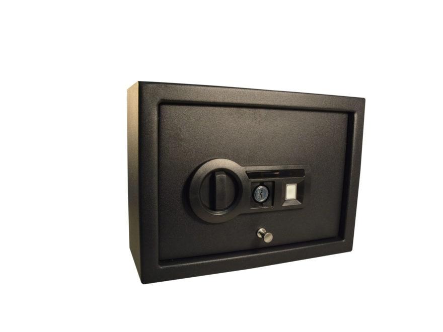 Stack-On Pistol Drawer Safe with Biometric Lock Black