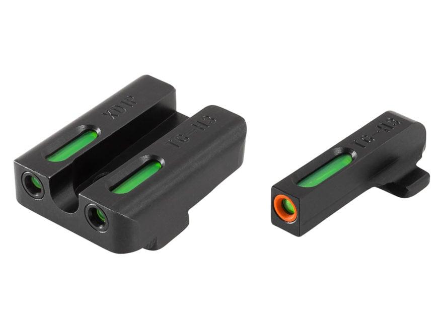 TRUGLO TFX Pro Sight Set Springfield XD, XDM, XDS Tritium / Fiber Optic Green with Oran...