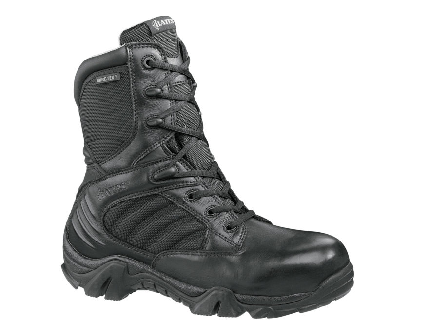 """Bates GX-8 8"""" Composite Safety Toe Side-Zip Waterproof GORE-TEX Tactical Boots Leather/..."""