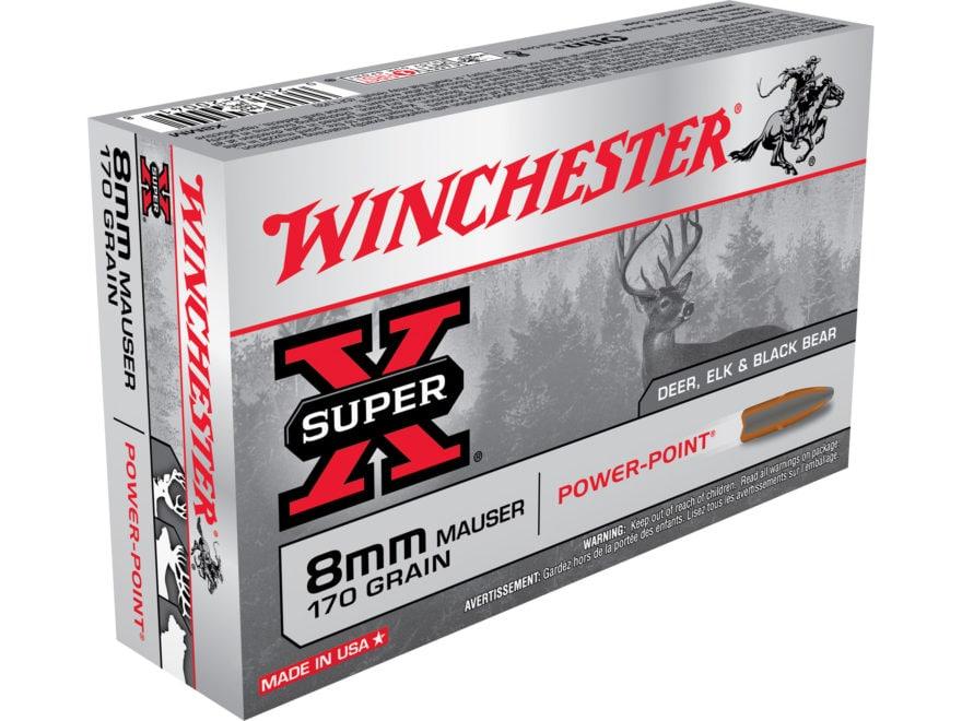 Winchester Super-X Ammunition 8x57mm JS Mauser (8mm Mauser) 170 Grain Power-Point