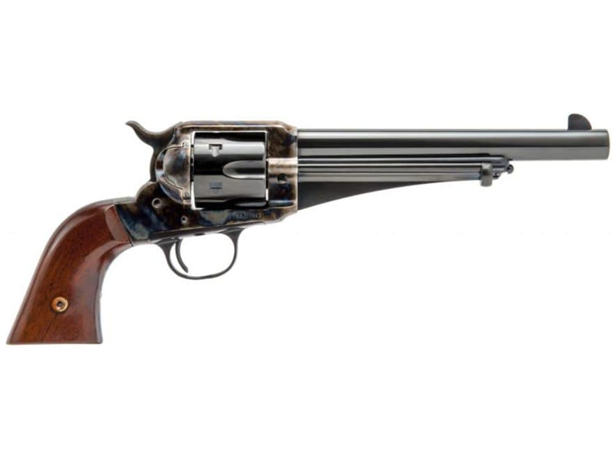 Cimarron 1875 Outlaw Revolver 6-Round Color Case Hardened, Blue, Walnut