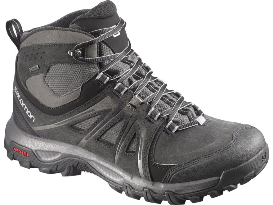 "Salomon Evasion Mid GTX 5"" Waterproof GORE-TEX Hiking Boots Leather/Nylon Black Men's 8.5"