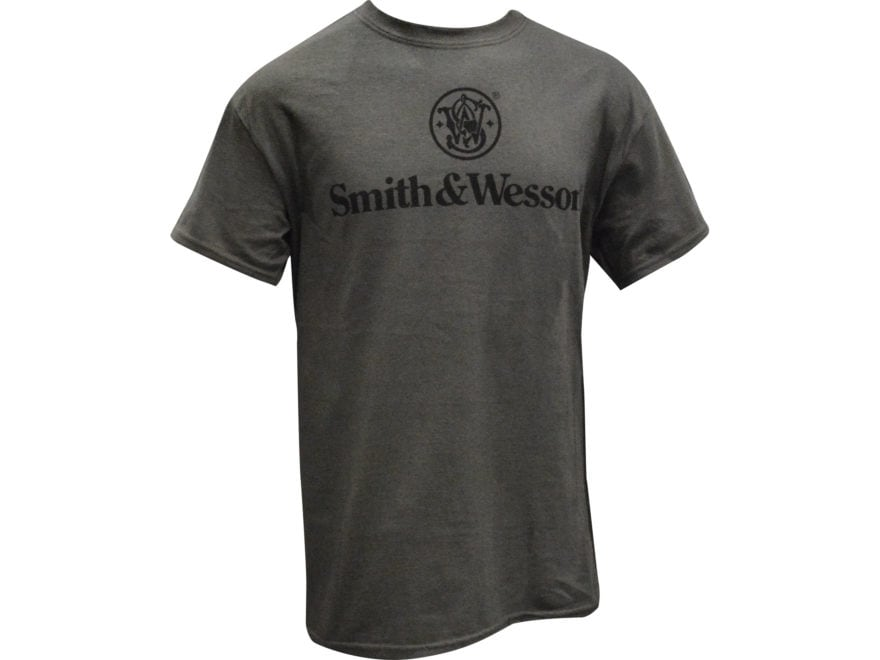 Smith & Wesson Men's Stacked Logo T-Shirt Short Sleeve Cotton
