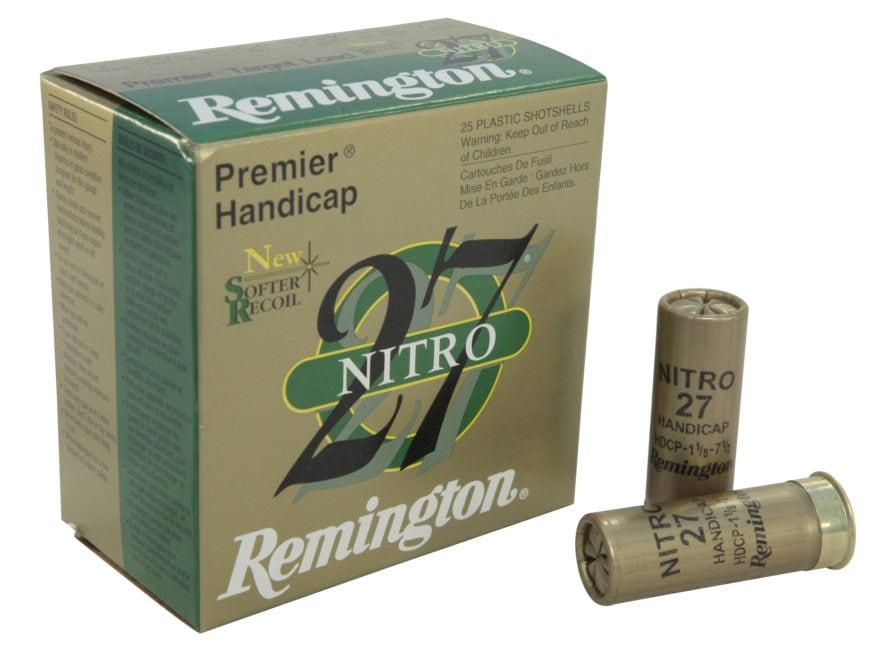 """Remington Premier Nitro 27 Gold Handicap Ammunition 12 Gauge 2-3/4"""" 1-1/8 oz #7-1/2 Shot"""