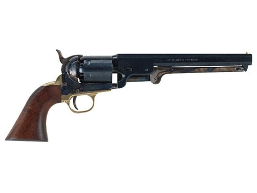 "Pietta 1851 Navy Black Powder Revolver 36 Caliber 7.5"" Barrel Steel Frame Blue"