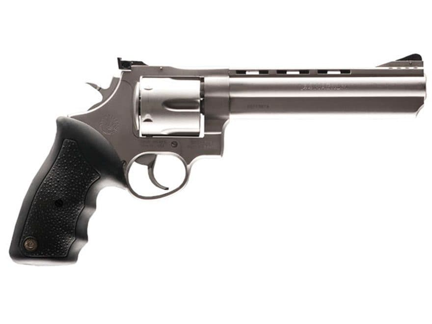 Taurus 44 Revolver 44 Remington Magnum 6-Round Stainless and Black Rubber
