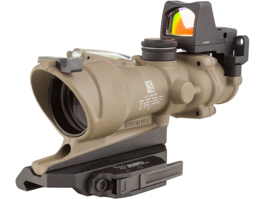 Trijicon ACOG Rifle Scope 4x 32mm Dual-Illuminated 5.56 Reticle with 3.25 MOA RMR Type ...