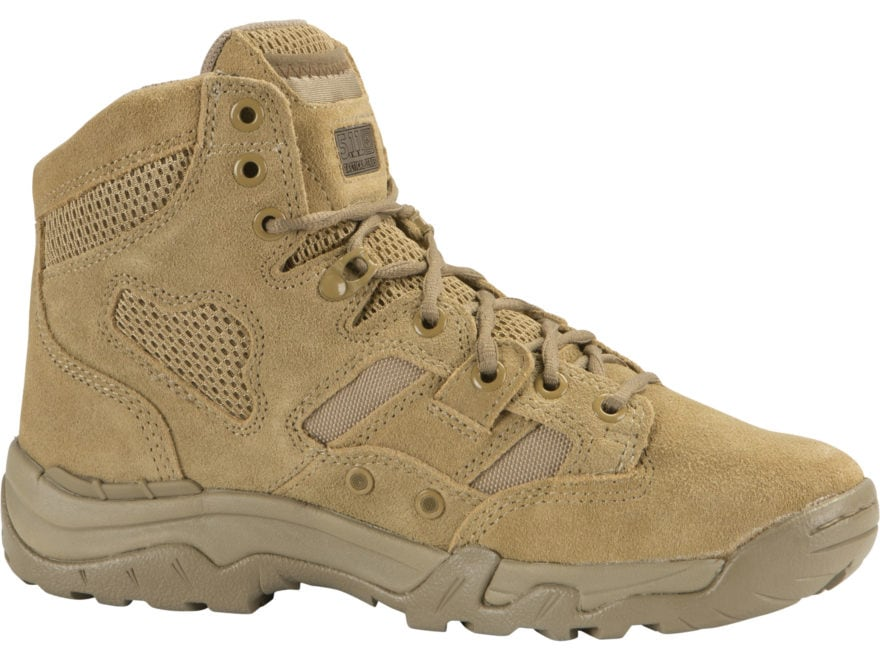 """5.11 Taclite 6"""" Tactical Boots Leather and Nylon Coyote Men's"""