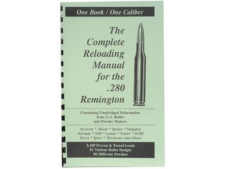 "Loadbooks USA ""280 Remington"" Reloading Manual"