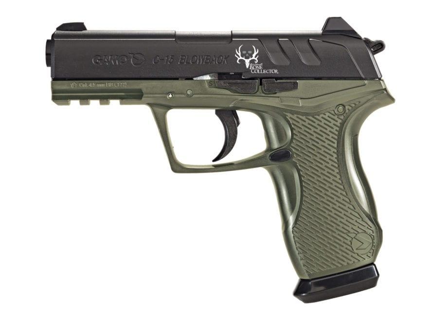 Gamo C-15 Bone Collector Blowback Air Pistol 177 Caliber BB and Pellet Green and Black ...