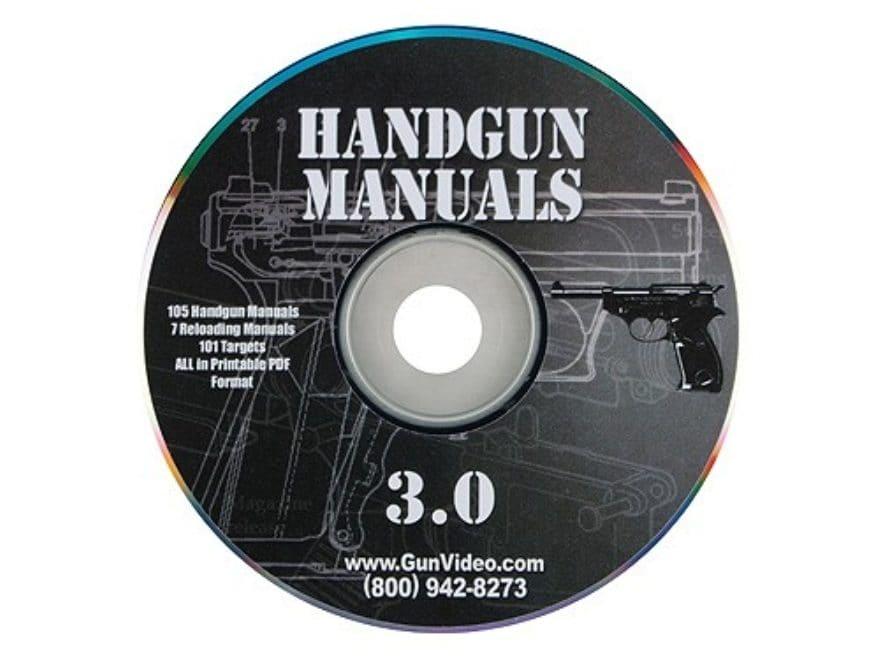 """Gun Video """"Handgun Manuals"""" CD-ROM"""