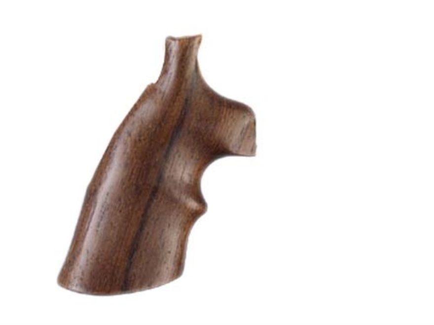 Hogue Fancy Hardwood Grips with Top Finger Groove Colt Diamondback