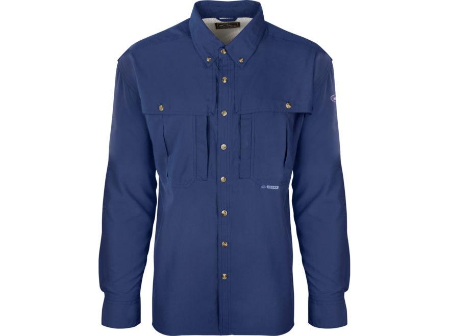 Drake Men's Flyweight Wingshooter's Shirt Long Sleeve Polyester
