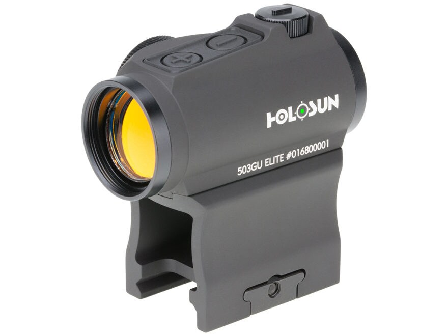 Holosun HE503GU-GR Elite Green Micro-Dot Sight 1x 65 MOA Circle with 2 MOA Dot Weaver-S...