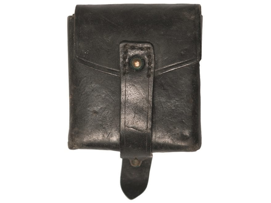 Military Surplus Italian Cartridge Pouch Grade 2 Leather Black