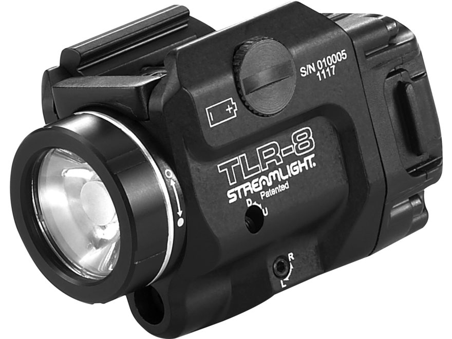 Streamlight TLR-8 Weapon Light White LED with Red Laser Fits Picatinny or Glock-Style R...
