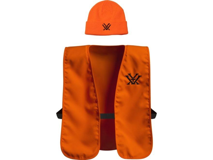 Vortex Optics Hunting Beanie & Safety Vest Combo Blaze Orange One Size Fits Most