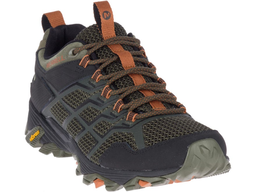 """Merrell Moab FST 2 4"""" Hiking Shoes Leather/Synthetic Men's"""