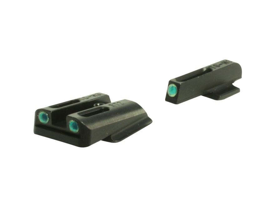 TRUGLO TFO Sight Set Ruger LC380, LC9 Steel Tritium / Fiber Optic Green Front