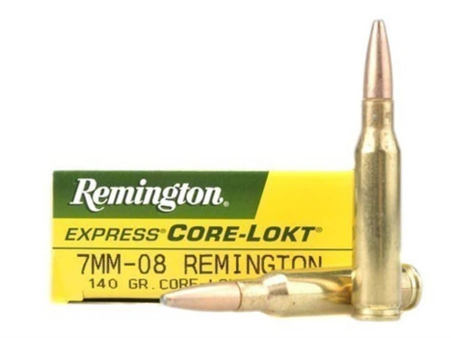 Remington Express Ammunition 7mm-08 Remington 140 Grain Core-Lokt Pointed Soft Point Bo...