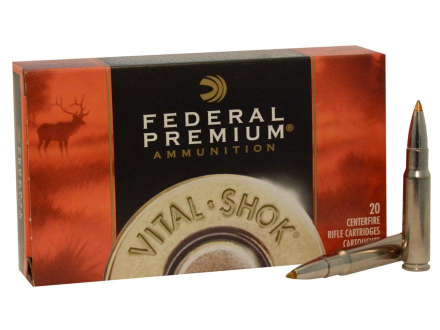 Federal Premium Vital-Shok Ammunition 338 Federal 200 Grain Trophy Bonded Tip Box of 20