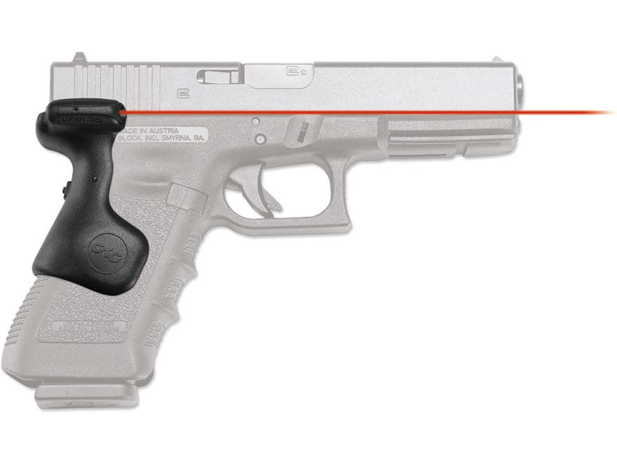Crimson Trace Lasergrips Glock Gen-3, Gen-4 17, 17L, 22, 31, 34, 35 Rear  Activation with Master On/Off Switch Polymer Black