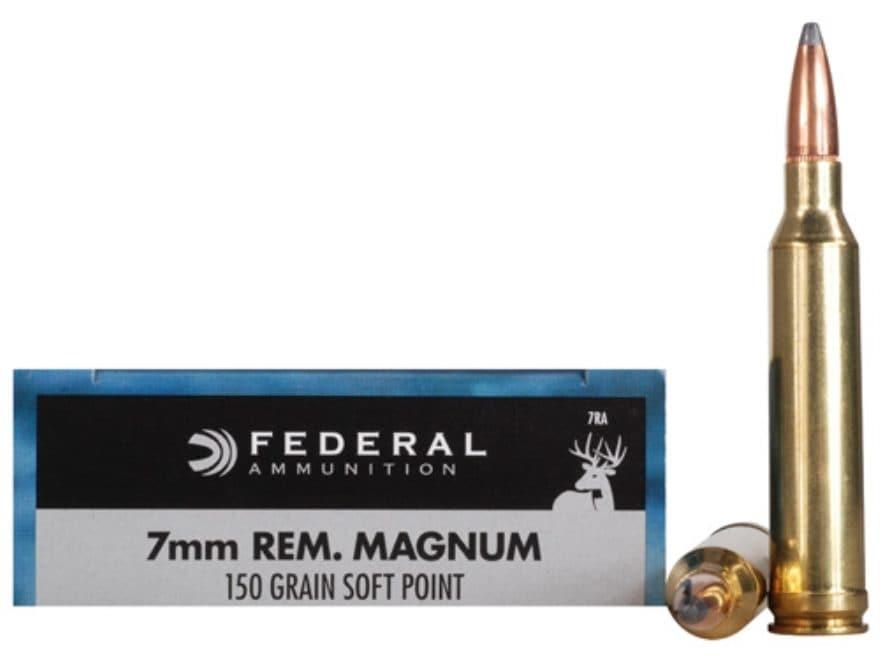 Federal Power Shok Ammunition 7mm Remington Magnum 150 Grain Soft Point Box Of 20