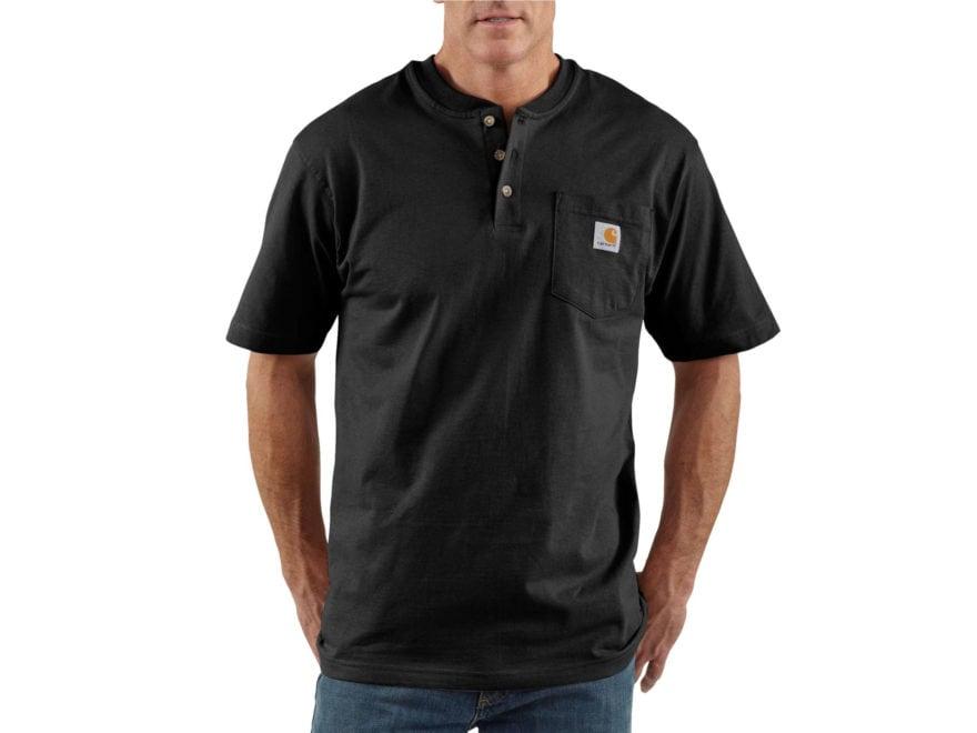 eba051a49773bb Carhartt Men's Workwear Pocket Henley Short Sleeve T-Shirt Cotton Navy