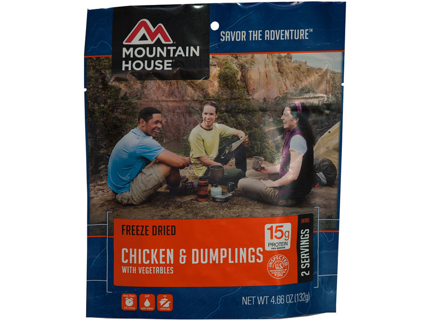 Mountain House Chicken & Dumplings Freeze Dried Food 4.66 oz