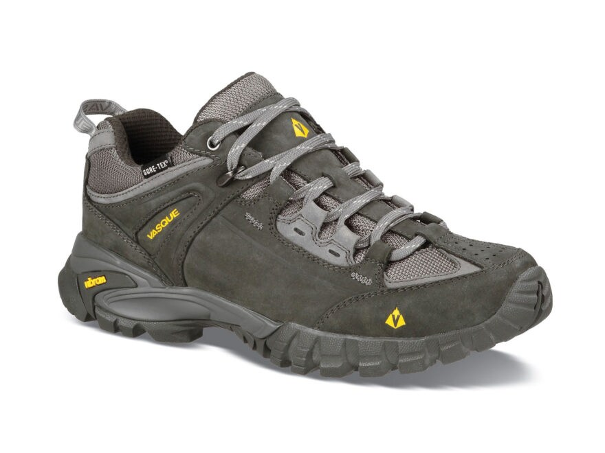 """Vasque Mantra 2.0 GTX 4"""" Waterproof GORE-TEX Hiking Shoes Leather Beluga and Old Gold M..."""