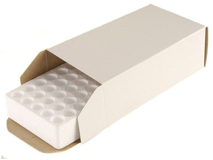 CB-02 Cardboard Ammo Box with Styrofoam Tray 50-Round 38 Special  Semi-Wadcutter White Box of 25